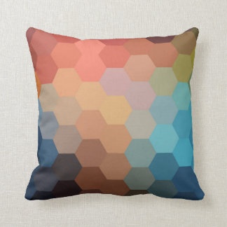 Modelo de Chevron del hexágono del arco iris Cojín Decorativo