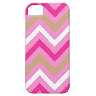 Modelo de Chevron del rosa del caramelo de algodón iPhone 5 Case-Mate Carcasa