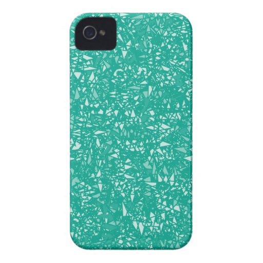 Modelo de Chrystal del verde esmeralda iPhone 4 Case-Mate Cárcasas