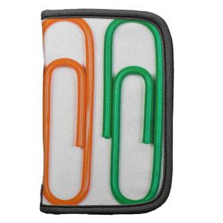 modelo de clips coloreados decorativos planificador
