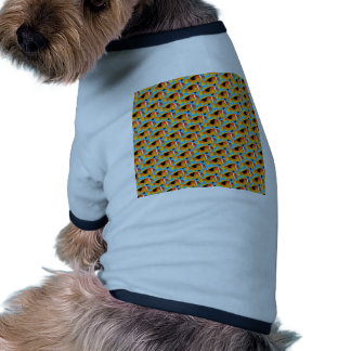 Modelo de Clownfish del fuego en azul Camiseta Con Mangas Para Perro