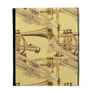Modelo de cobre amarillo de la trompeta