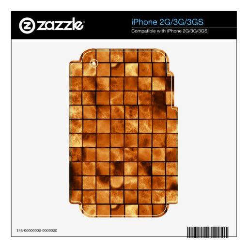 modelo de cobre caliente del metal skins para eliPhone 3