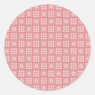 Modelo de color de malva bonito del edredón de pegatina redonda