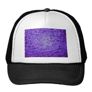 Modelo de color de malva púrpura del vitral del gorro