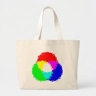 Modelo de color psicodélico del RGB Bolsa De Mano