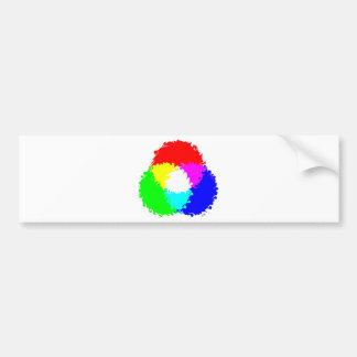 Modelo de color psicodélico del RGB Pegatina De Parachoque