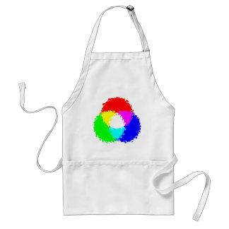 Modelo de color psicodélico del RGB Delantales