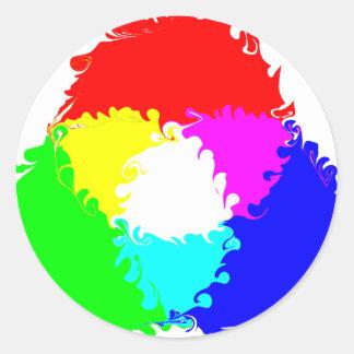 Modelo de color psicodélico del RGB Etiqueta