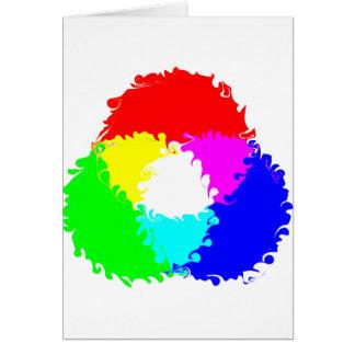 Modelo de color psicodélico del RGB Felicitación
