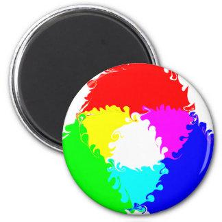 Modelo de color psicodélico del RGB Iman