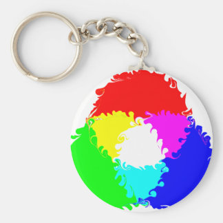Modelo de color psicodélico del RGB Llavero Personalizado
