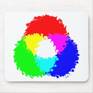 Modelo de color psicodélico del RGB Alfombrillas De Raton