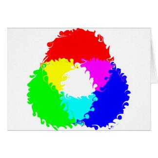 Modelo de color psicodélico del RGB Tarjeta