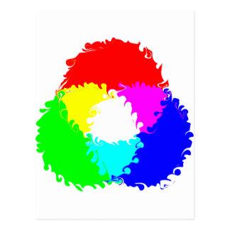 Modelo de color psicodélico del RGB Tarjeta Postal