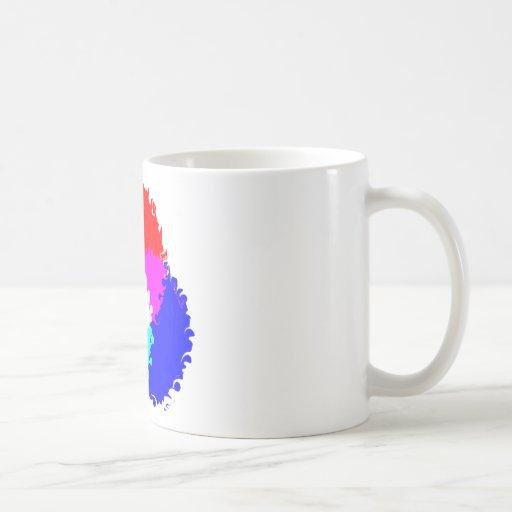 Modelo de color psicodélico del RGB Taza Clásica