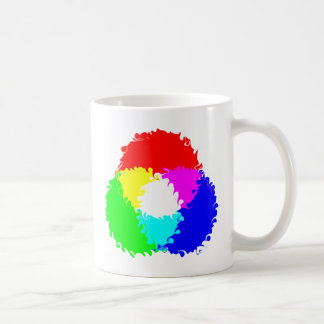 Modelo de color psicodélico del RGB Tazas De Café