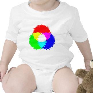 Modelo de color psicodélico del RGB Traje De Bebé