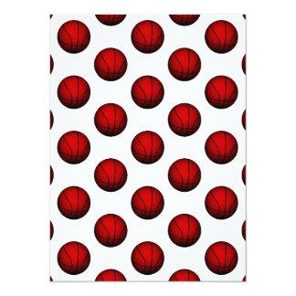 """Modelo de color rojo oscuro del baloncesto invitación 5.5"""" x 7.5"""""""