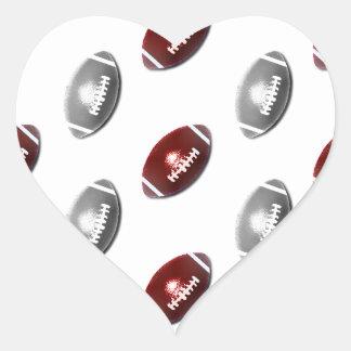 Modelo de color rojo oscuro y de los gris pegatina en forma de corazón