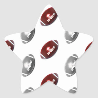 Modelo de color rojo oscuro y de los gris pegatina en forma de estrella