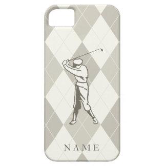 Modelo de color topo de Argyle, golf personalizado iPhone 5 Fundas