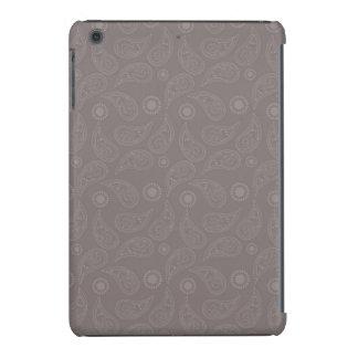 Modelo de color topo de Brown Paisley Fundas De iPad Mini