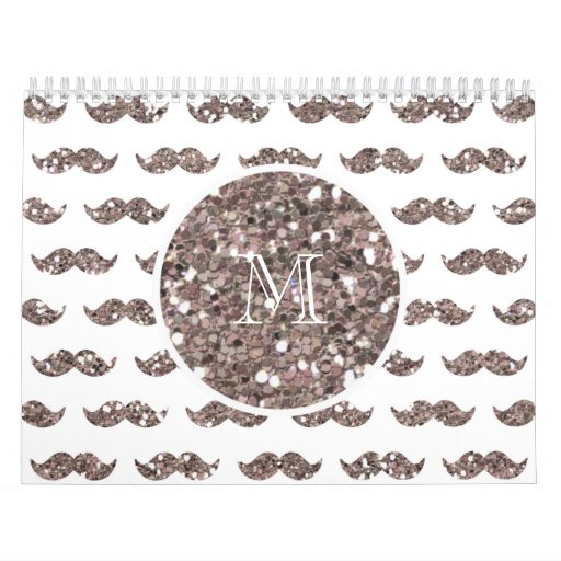 Modelo de color topo del bigote del brillo su mono calendarios