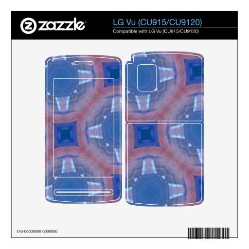 Modelo de cristal abstracto azul LG vu skins