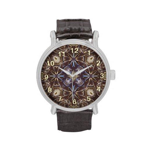 Modelo de cristal abstracto relojes de pulsera