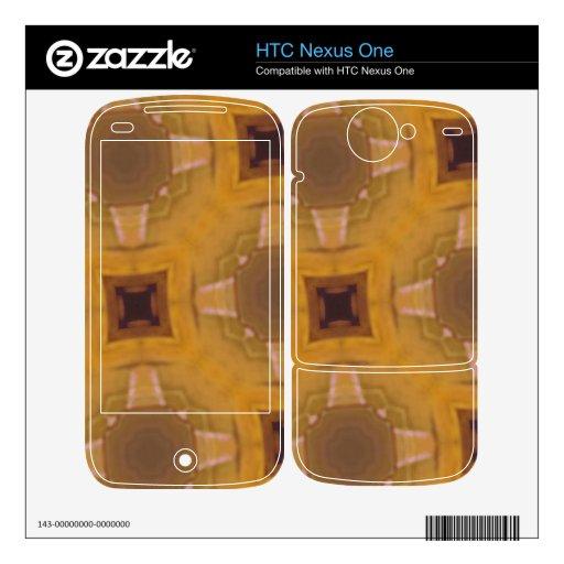 modelo de cristal abstracto HTC nexus one calcomanía