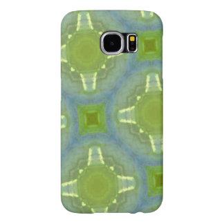 modelo de cristal azulverde fundas samsung galaxy s6