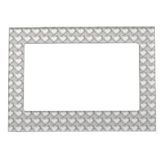 Modelo de cristal de plata del corazón foto de imanes