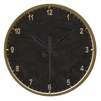 """Modelo de cuero 10,75"""" reloj redondo grande"""