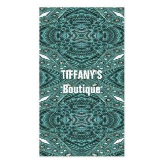 modelo de cuero equipado turquesa elegante tarjetas de visita