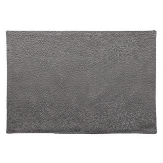 Modelo de cuero gris de la textura de la impresión manteles individuales