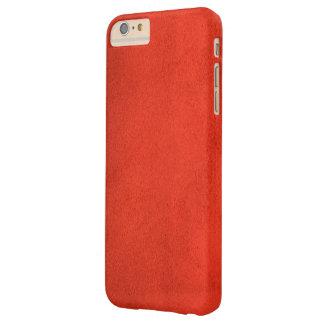 Modelo de cuero rojo funda para iPhone 6 plus barely there