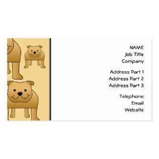 Modelo de dogos ingleses rojos tarjetas de negocios
