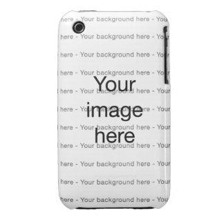 Modelo de encargo de plantilla doble en blanco Case-Mate iPhone 3 funda