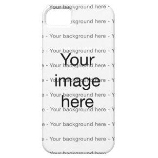 Modelo de encargo de plantilla en blanco doble funda para iPhone 5 barely there