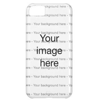 Modelo de encargo de plantilla en blanco doble funda para iPhone 5C