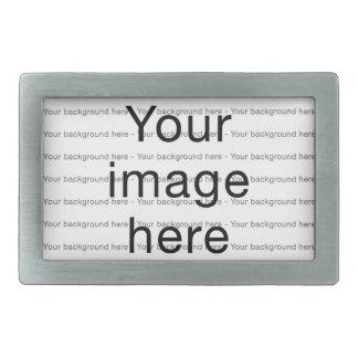 Modelo de encargo de plantilla en blanco doble hebillas cinturón rectangulares
