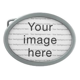 Modelo de encargo de plantilla en blanco doble hebillas cinturon ovales