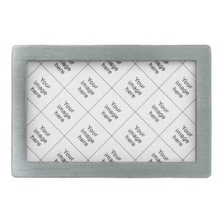 Modelo de encargo de plantilla en blanco mosaico hebilla de cinturon rectangular