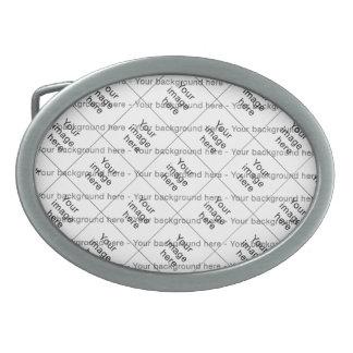 Modelo de encargo de plantilla en blanco mosaico hebillas de cinturon ovales