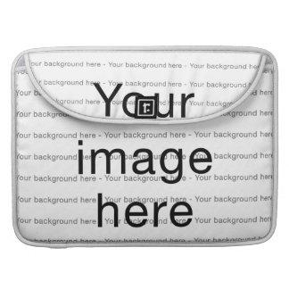 Modelo de encargo de plantilla en blanco para fundas macbook pro