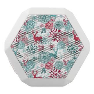 Modelo de encargo del reno del navidad del día de altavoces bluetooth blancos boombot REX
