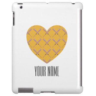 Modelo de encargo en forma de corazón del bate de funda para iPad