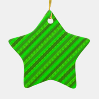 Modelo de encargo verde de Stiped Decoritive del Adorno Navideño De Cerámica En Forma De Estrella