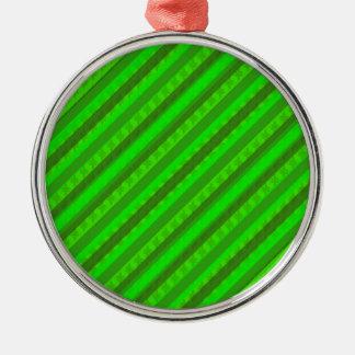 Modelo de encargo verde de Stiped Decoritive del Adorno Navideño Redondo De Metal